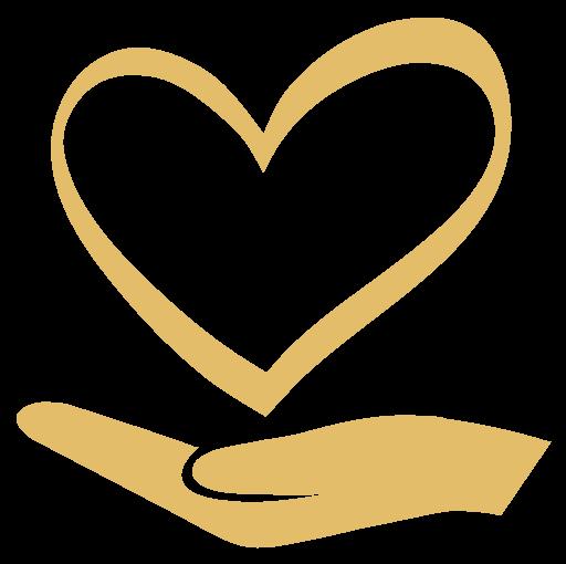 Logo mano con cuore